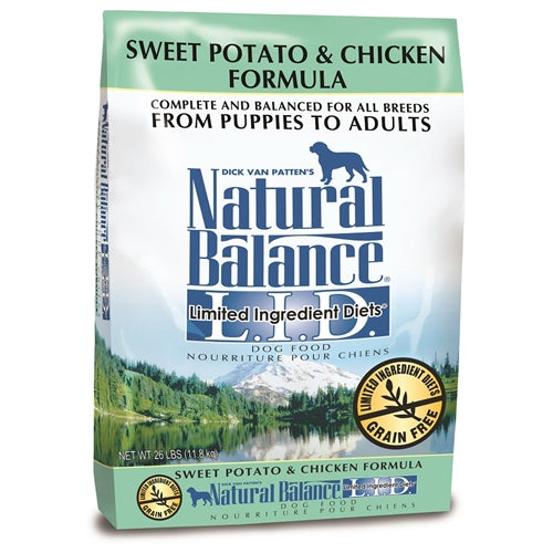 Natural Balance Grain Free L.I.D. Sweet Potato and Chicken Dry Dog Formula