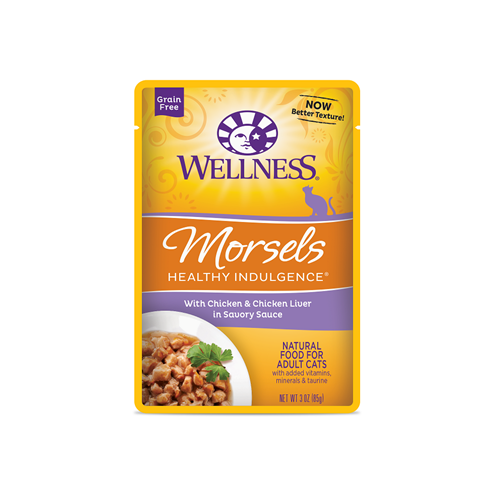 Wellness Healthy Indulgence Chicken and Chicken Liver Cat Pouches