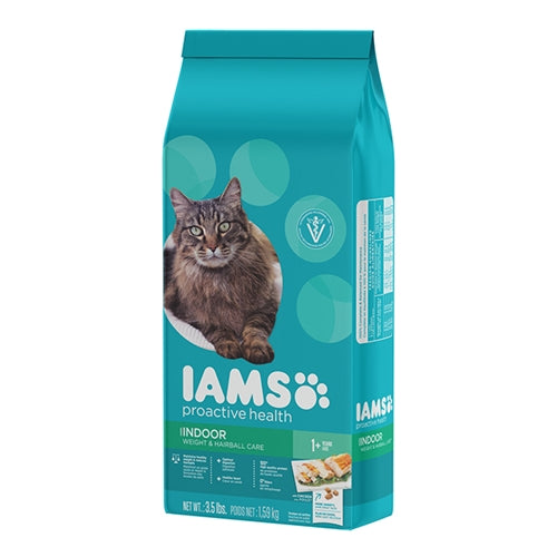 Iams ProActive Health Adult Indoor Weight and Hairball Control Dry Cat Food