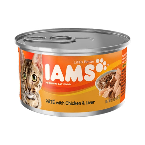Iams ProActive Health Adult Pate with Chicken and Liver Canned Cat Food