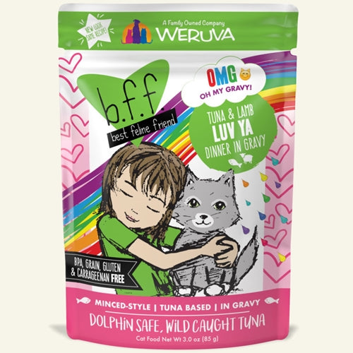 Best Feline Friend Tuna & Lamb LUV YA Cat Pouches
