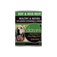 Dave's Pet Food Naturally Healthy Beef and Rice Canned Dog Food