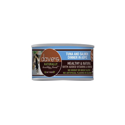 Dave's Pet Food Naturally Healthy Grain Free Tuna and Salmon in Aspic Canned Cat Food