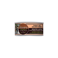 Dave's Pet Food Naturally Healthy Grain Free Turkey and Salmon Dinner Canned Cat Food