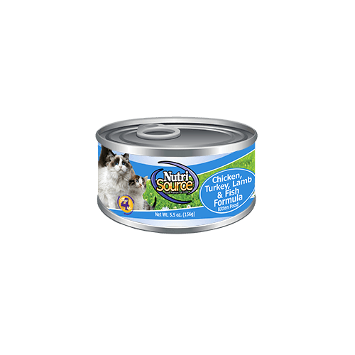 Nutrisource Chicken, Turkey, Lamb and Fish Canned Kitten Formula