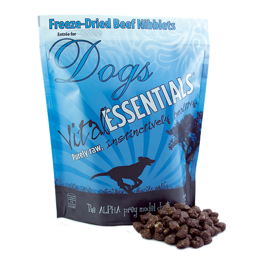 Vital Essentials Freeze-Dried Nibblets Beef Entrees for Dogs