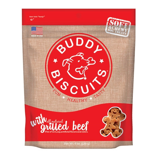 Cloud Star Original Buddy Biscuits Soft and Chewy Beef Dog Treats