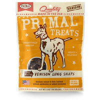 Primal Dry Roasted Venison Lung Snaps Treats