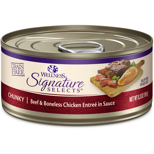 Wellness Signature Select Chunky Beef & White Meat Chicken Entree in Sauce Canned Cat Food