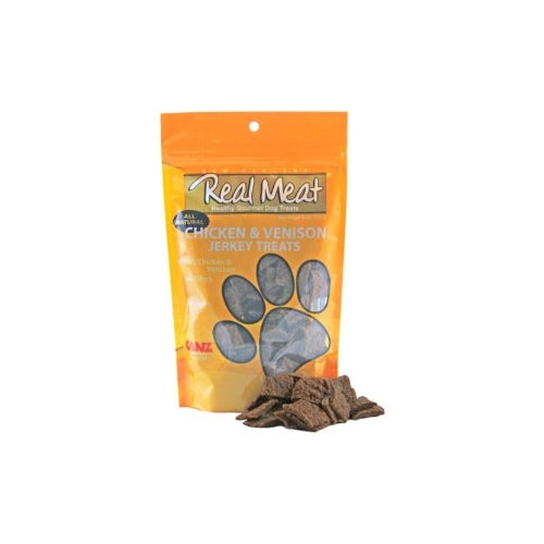 Real Meat Chicken and Venison Jerky Treats for Dogs