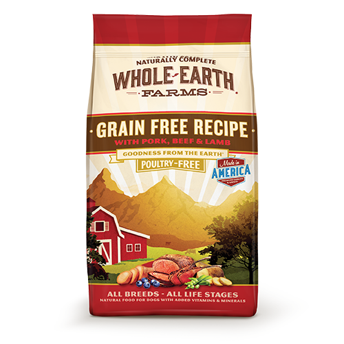 Whole Earth Farms Grain Free Pork, Beef and Lamb Dry Dog Food