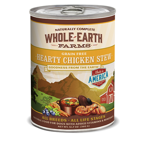 Whole Earth Farms Grain Free Hearty Chicken Stew Formula Canned Dog Food