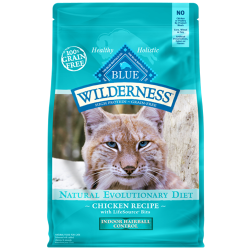 Blue Buffalo Wilderness Grain Free Indoor Hairball Control Chicken Recipe For Adult Cats