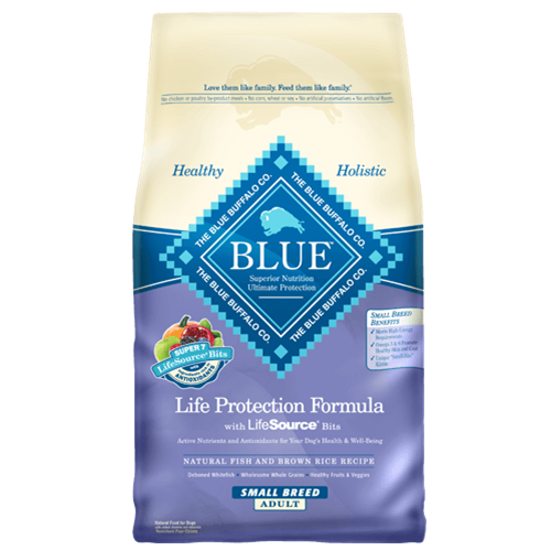 Blue Buffalo Life Protection Fish & Brown Rice Recipe For Small Breed Adult Dogs