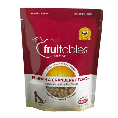 Fruitables Pumpkin & Cranberry Mix Dog Treats