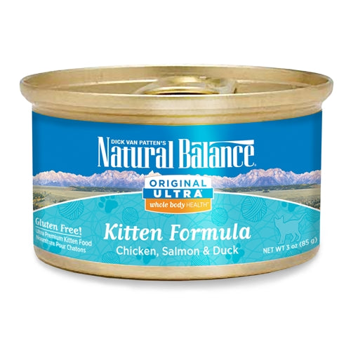 Natural Balance Original Ultra Whole Body Health Chicken Duck Brown Rice Canned Kitten Food