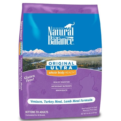 Natural Balance Original Ultra Whole Body Health Venison Turkey & Lamb Dry Cat Food