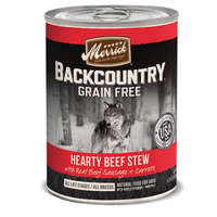 Merrick Grain Free Backcountry Hearty Beef Stew Canned Dog Food