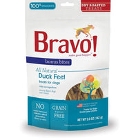 BRAVO! Bonus Bites Dry Roasted Duck Feet Dog Treats