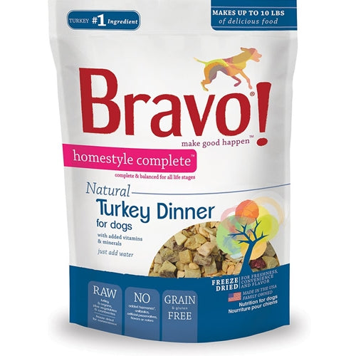 BRAVO! Homestyle Complete Natural Turkey Dinner for Dogs