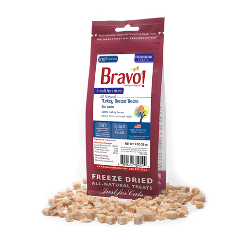 BRAVO! Healthy Bites Turkey Breast Treats for Cats
