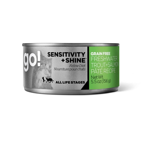 GO! SENSITIVITY + SHINE Grain-Free Fresh Water Trout and Salmon Canned Cat Food