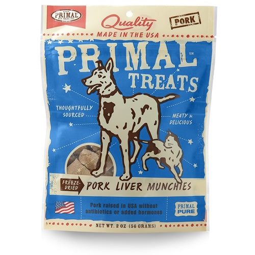 Primal Freeze Dried Pork Liver Munchies Treats