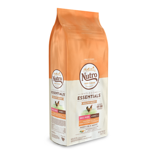 NUTRO WHOLESOME ESSENTIALS Lite Small Breed Adult Chicken, Brown Rice & Sweet Potato Recipe Dog Food