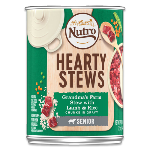 NUTRO HEARTY STEWS Grandma's Farm Stew with Lamb & Rice Chunks