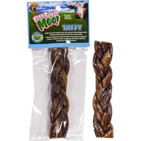 Free Range Dog Chews Moo! Braided Taffy Sticks