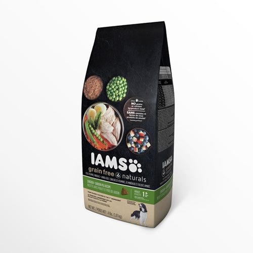 Iams Healthy Naturals Adult Grain Free Chicken and Peas Dry Dog Food