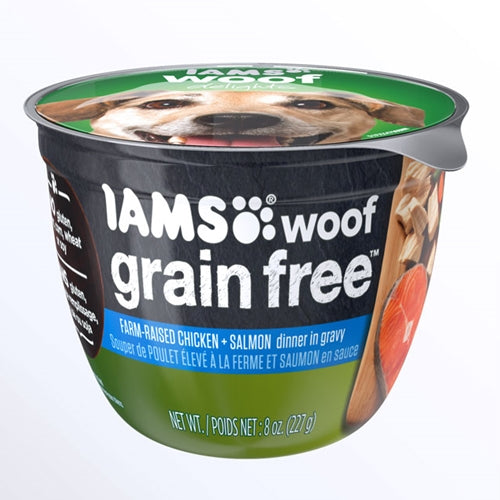 Iams Woof Delights Grain Free Chicken and Salmon Wet Dog Food