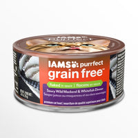 Iams Purrfect Grain Free Wild Mackerel and Whitefish Canned Cat Food