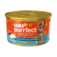 Iams Purrfect Delights Tempt Me Tuna and Mackerel Dinner Canned Cat Food
