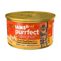 Iams Purrfect Delights Cluckin Good Chicken Dinner Canned Cat Food