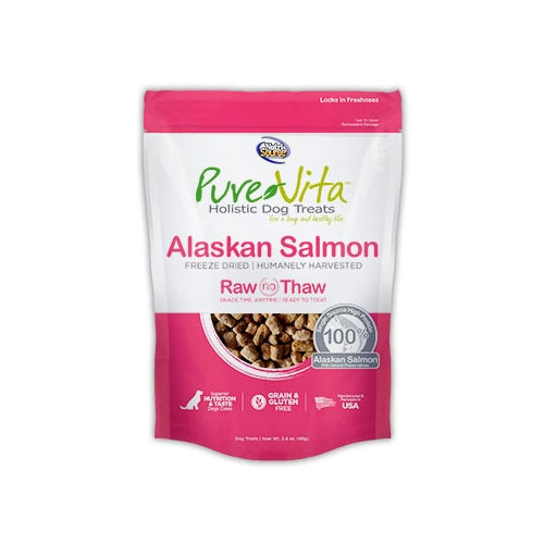 PureVita Freeze Dried Alaskan Salmon Treats for Dogs
