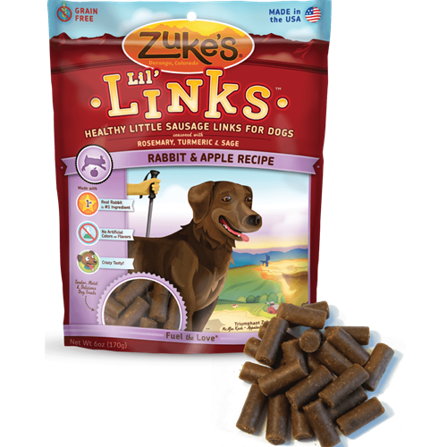 Zukes Lil Links Rabbit Flavor
