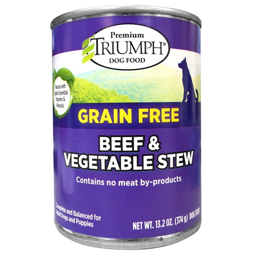 Triumph Grain Free Beef and Vegetable Stew Canned Dog Food