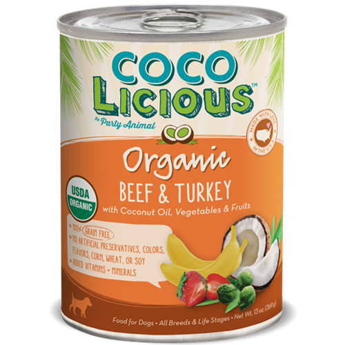 Party Animal Cocolicious Beef and Turkey Canned Food for Dogs