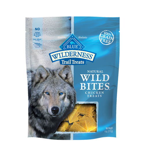 Blue Buffalo Wilderness Grain Free Wild Bites Chicken Dog Treats