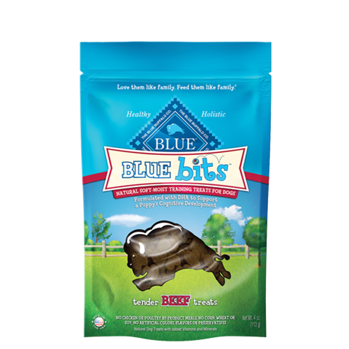 Blue Buffalo Blue Bits Tender Beef Soft and Moist Training Dog Treats