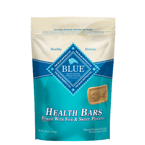 Blue Buffalo Health Bars Baked with Fish and Sweet Potato Dog Treats