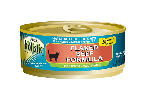 Precise Holistic Complete Grain Free Flaked Beef Can Cat Food