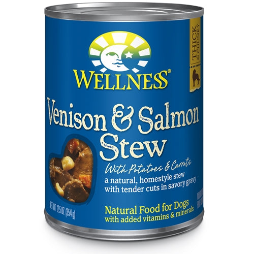 Wellness Venison and Salmon Stew Canned Dog Food