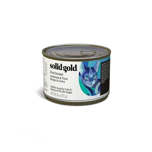 Solid Gold Five Oceans Sea Bream and Tuna Canned Cat Food