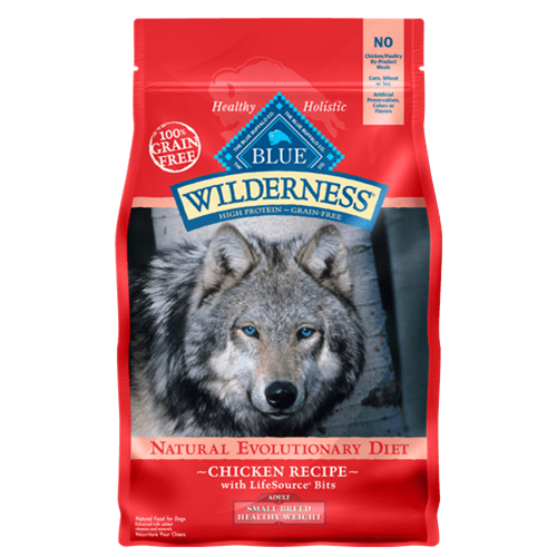 Blue Buffalo Wilderness Grain Free Healthy Weight Chicken Small Breed Dry Dog Food