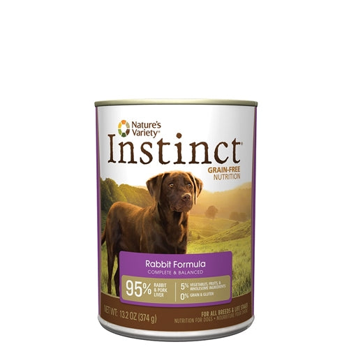 Nature's Variety Instinct Rabbit Formula Canned Dog Food