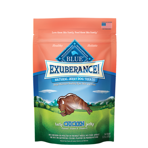Blue Buffalo Grain Free Exuberance Chicken Jerky Dog Treats