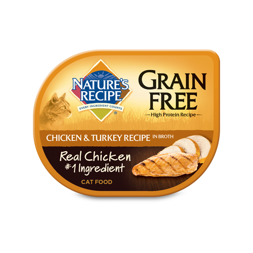 Nature's Recipe Wet Cat Food Grain Free Chicken and Turkey Recipe in Broth