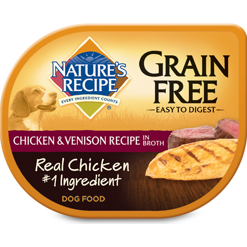Nature's Recipe Wet Dog Food Grain Free Chicken and Venison Recipe in Broth